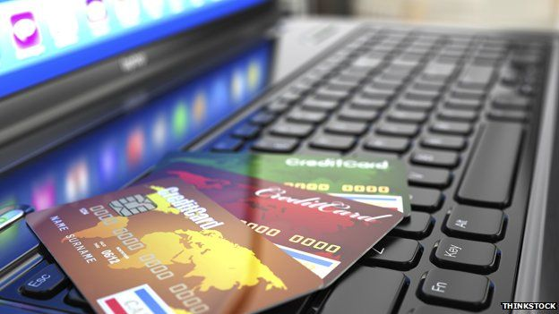 Computer and credit cards