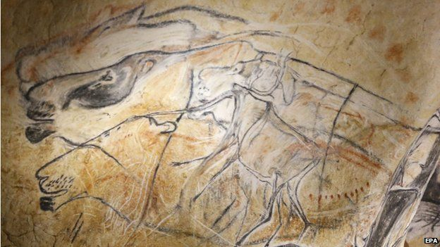 Copies of Chauvet cave art