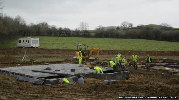 Project team laying foundations