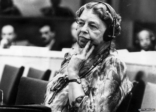 Eleanor Roosevelt, pictured during her time as a representative to the United Nations