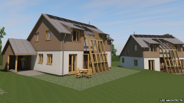 Design plans of the eco-homes