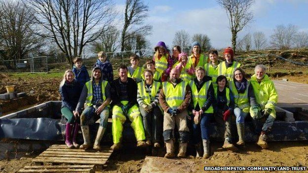 Project team at building site