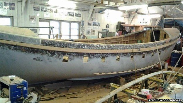 Lucy Lavers mid-restoration