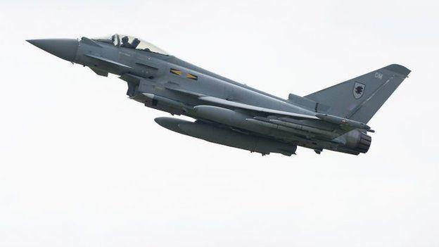 Royal Air Force Typhoon aircraft (April 2014)