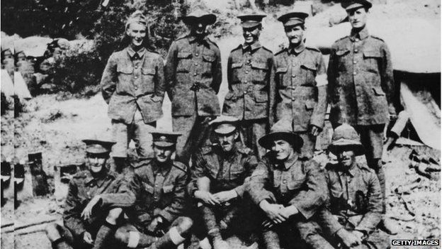 Anzac soldiers from Taranaki, New Zealand, in Gallipoli (1915)