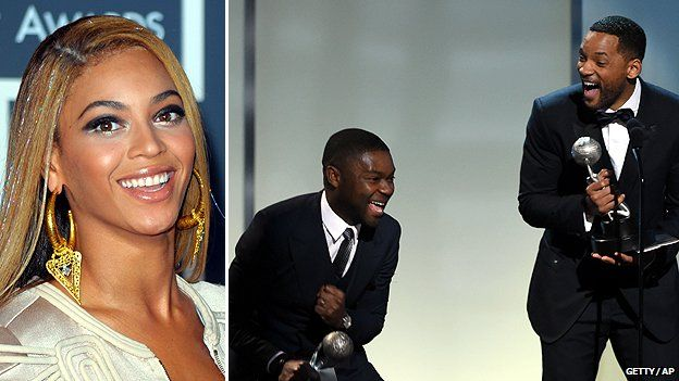 Composite of Beyoncé and David Oyelowo and Will Smith