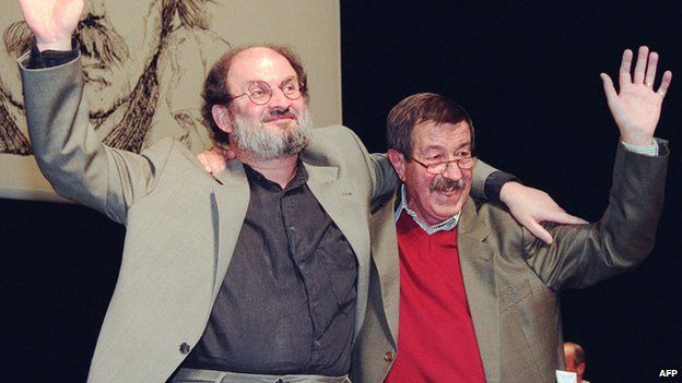 Salman Rushdie and Guenter Grass in 1997