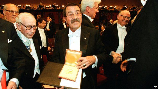 Guenter Grass with the Nobel Prize in 1999