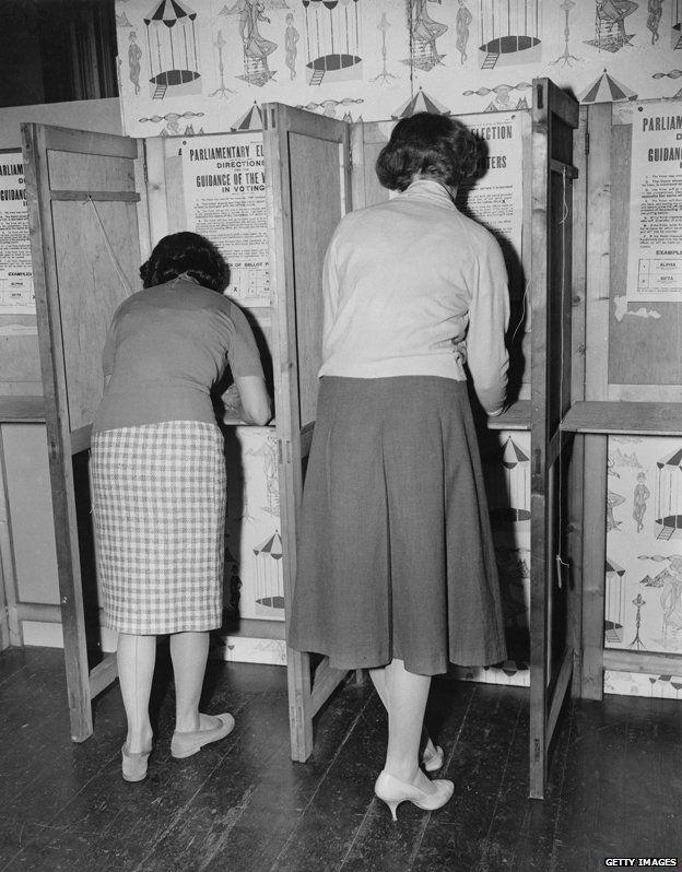 Women voting, 1964 election
