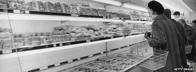 shopping in 1960