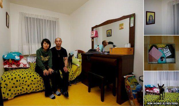 Huh Heung-hwan (right) and Park Eun-mi, the parents of Huh Da-yoon