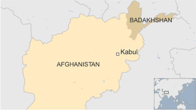 Map showing Badakhshan