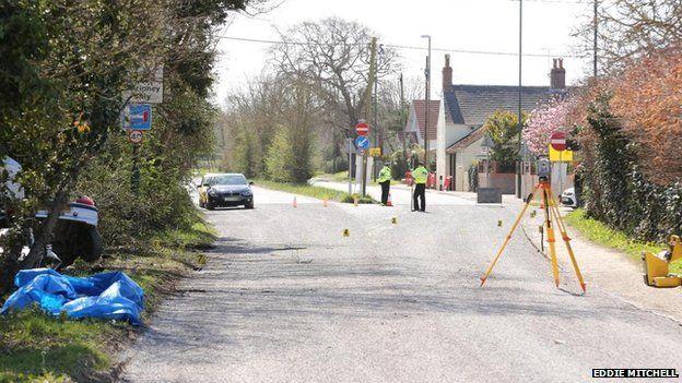 Crash on Shripney Road, Bognor
