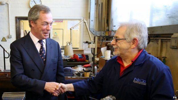 Nigel Farage meets Ivan Concsarevity