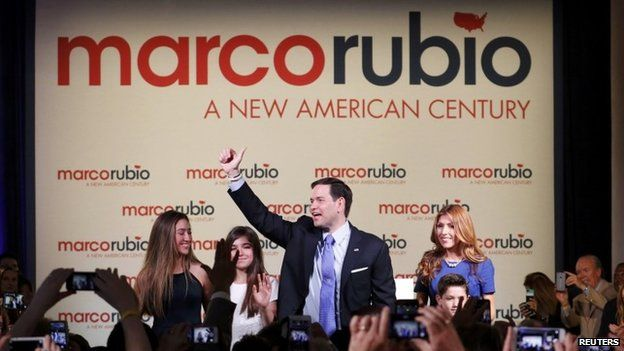 Marco Rubio with his family