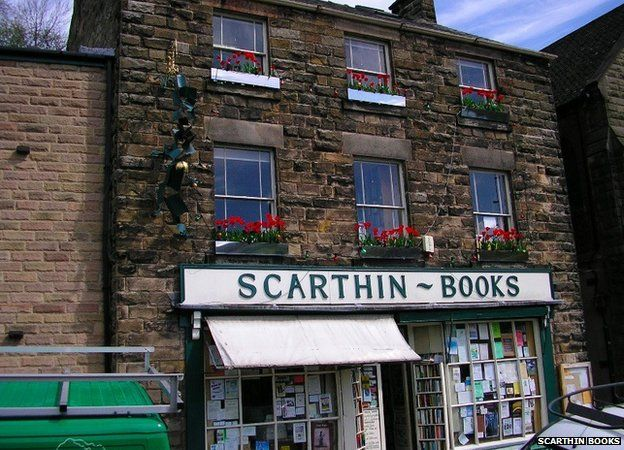 Front view of Scarthin Books