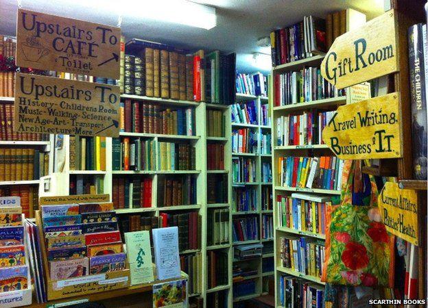 Internal view of the bookshop