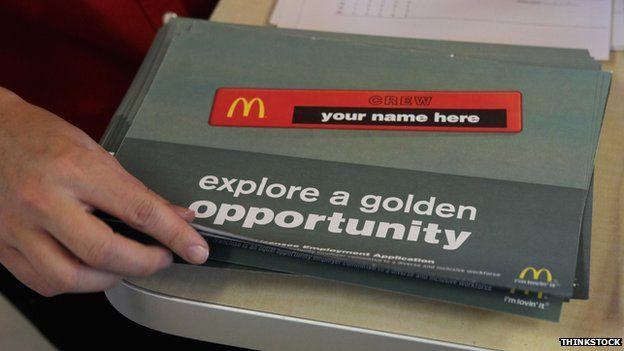 McDonald's application forms