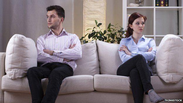Couple on sofa
