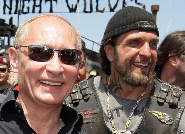 Night Wolves bikers in Crimea with President Putin, July 2010
