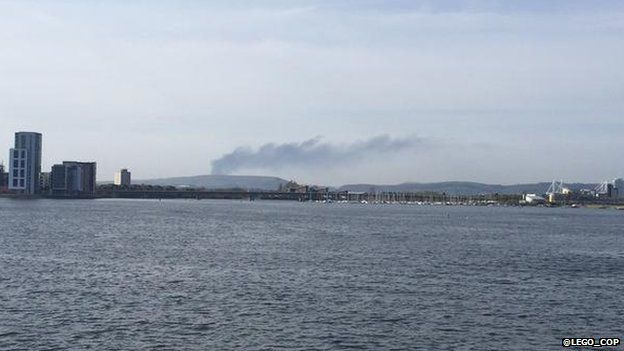 The fire can be fire from Cardiff Bay
