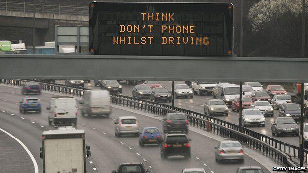 Motorway sign on M25