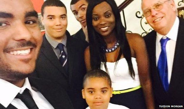 Tuedon Morgan and her family