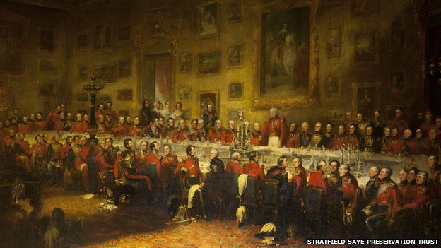 The Waterloo Banquet, painting by William Salter