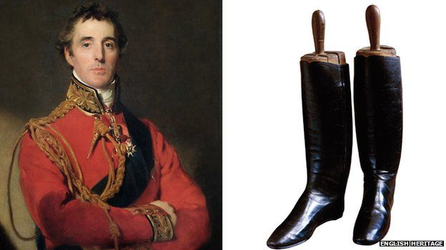 Arthur Wellesley, 1st Duke of Wellington. Painting by Thomas Lawrence and Wellington Boots