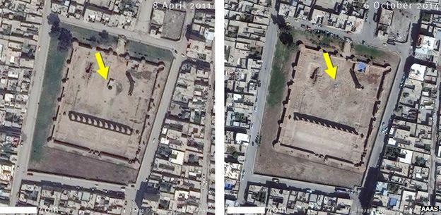 Sufi temple in raqqa destruction