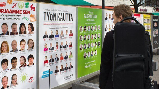 Election posters in Finland