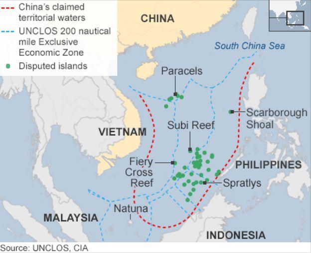 china building runway in disputed south china sea island bbc news