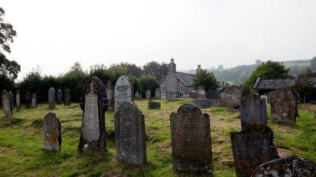 Cemetery in Dartmoor National Park