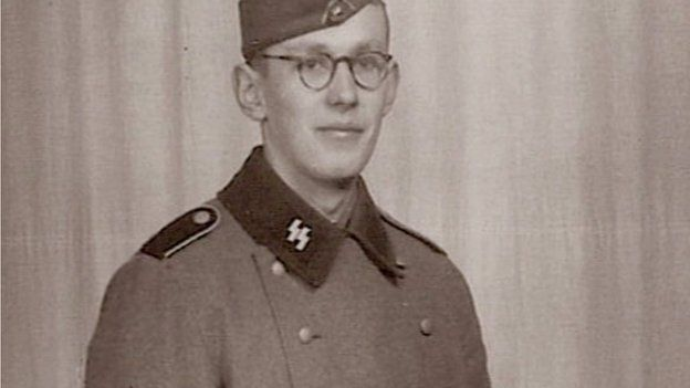 Oskar Groening in SS uniform. File image taken from BBC documentary Auschwitz: the Nazis and the 'Final Solution'