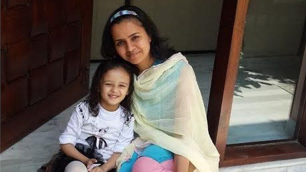 Anjali Bhushan and her daughter