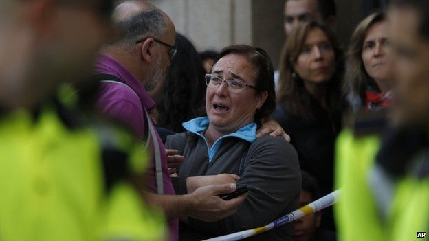 Spain pupil with 'crossbow' kills teacher in Barcelona - BBC News