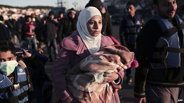 Syrian migrants in Greece