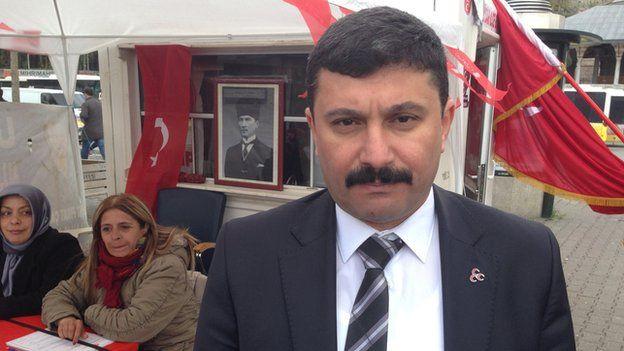 Hakan Aslan, regional head of the far-right MHP party