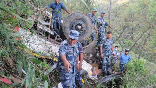 Bus accident in Nepal, 22 April 2015