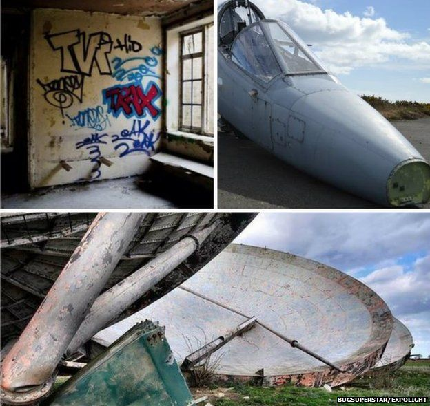 Haunting images of the UK's redundant RAF bases - BBC News
