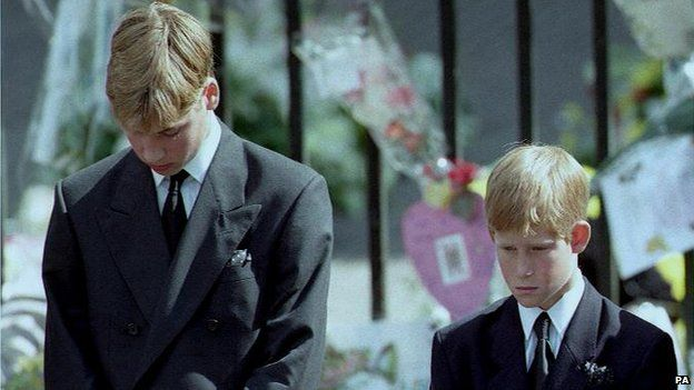 Princes William and Harry in 1997