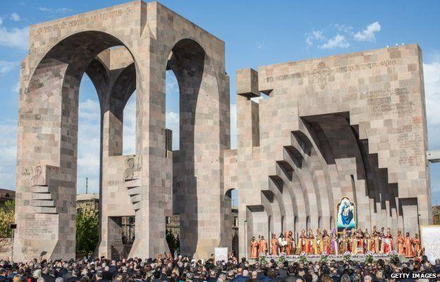 Armenian Apostolic Church canonisation ceremony, 23 April 2015