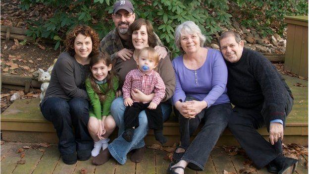 Warren Weinstein (right) with his family