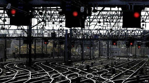 Rail signal lights