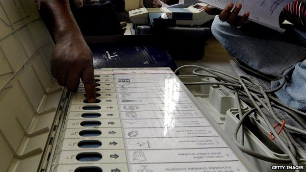 Electronic voting machine in Indian state election 2014