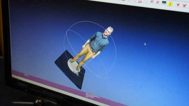 3D scan preview