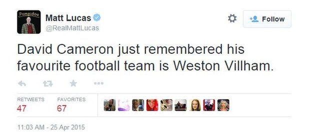 Matt Lucas tweet