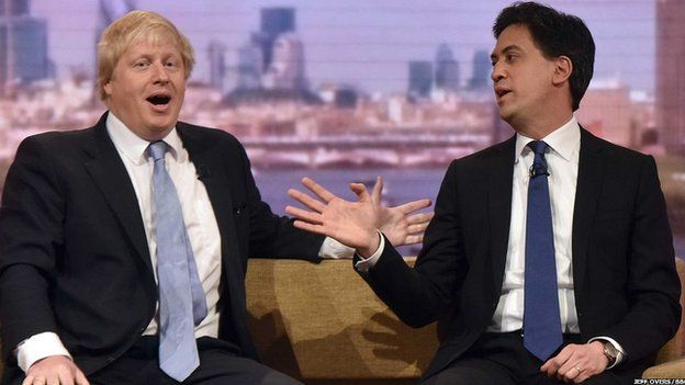 Ed Miliband and Boris Johnson on the Andrew Marr show