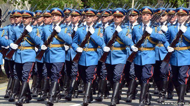 Serbian elite guards