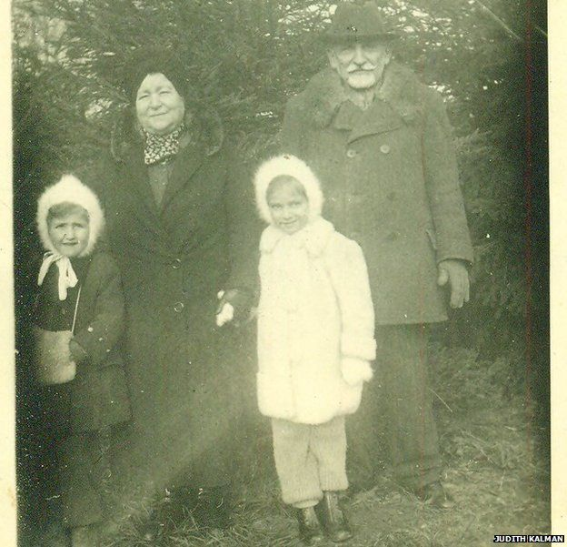 Gustav Weinberger's parents (Evike's grandparents), Ilona and Kalman Weinberger with Evike and Marika (L)